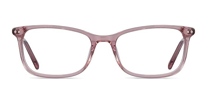 Alette Clear Pink Acétate Montures de lunettes de vue d'EyeBuyDirect