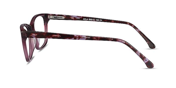 Ayla Purple Acetate Eyeglass Frames from EyeBuyDirect