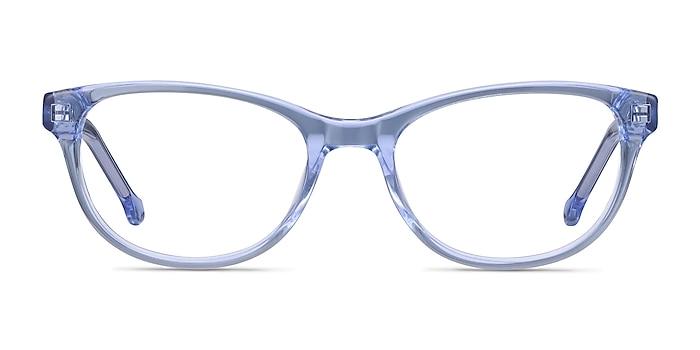 Thinker Clear Blue Acétate Montures de lunettes de vue d'EyeBuyDirect