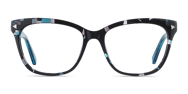 Petal Blue Floral Acetate Eyeglass Frames