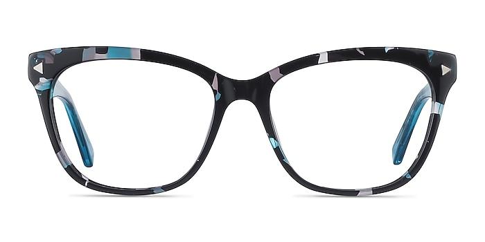 Petal Blue Floral Acetate Eyeglass Frames from EyeBuyDirect