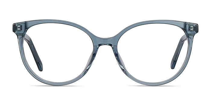Nala Clear Blue Acetate Eyeglass Frames from EyeBuyDirect