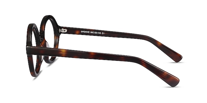 Groove Tortoise Acetate Eyeglass Frames from EyeBuyDirect