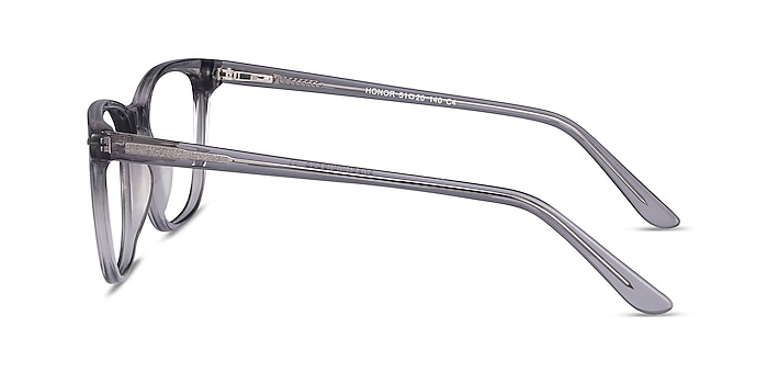 Honor Clear Gray Acetate Eyeglass Frames from EyeBuyDirect