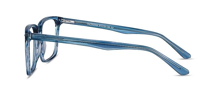 Tactician Blue Striped Acétate Montures de lunettes de vue d'EyeBuyDirect