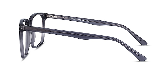 Tactician Gray Acetate Eyeglass Frames from EyeBuyDirect