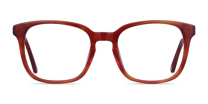 Tower Blood Orange Acetate Eyeglass Frames from EyeBuyDirect