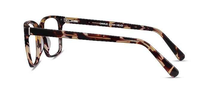 Charlie Tortoise Acetate Eyeglass Frames from EyeBuyDirect