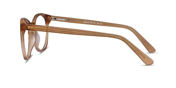 Dulce Yellow Acetate Eyeglass Frames from EyeBuyDirect