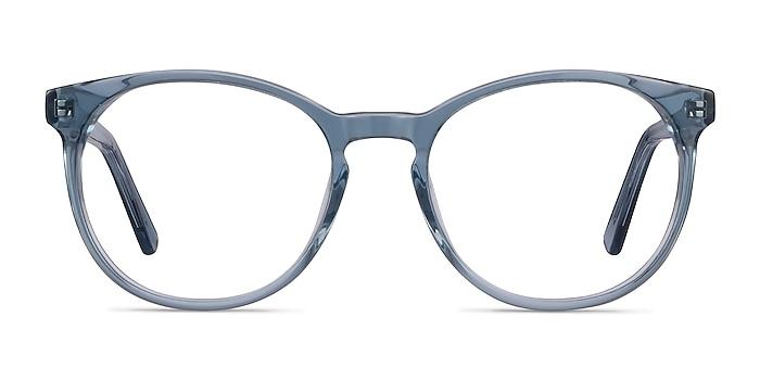 Dulce Blue Acetate Eyeglass Frames from EyeBuyDirect