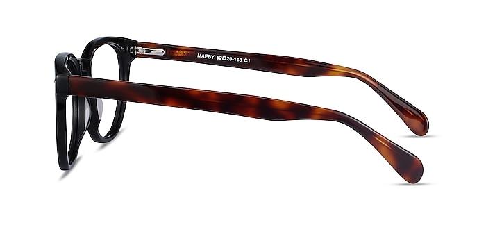 Maeby Black Acetate Eyeglass Frames from EyeBuyDirect