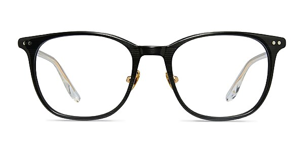 Follow Gray Striped Acetate Eyeglass Frames