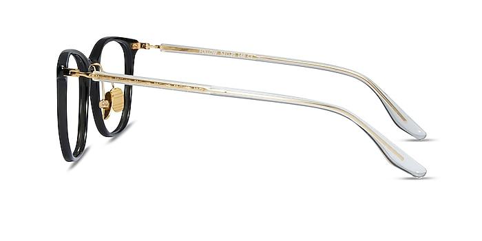 Follow Gray Striped Acetate Eyeglass Frames from EyeBuyDirect
