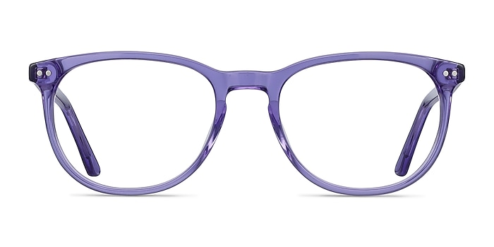 Cherbourg Purple Acetate Eyeglass Frames from EyeBuyDirect