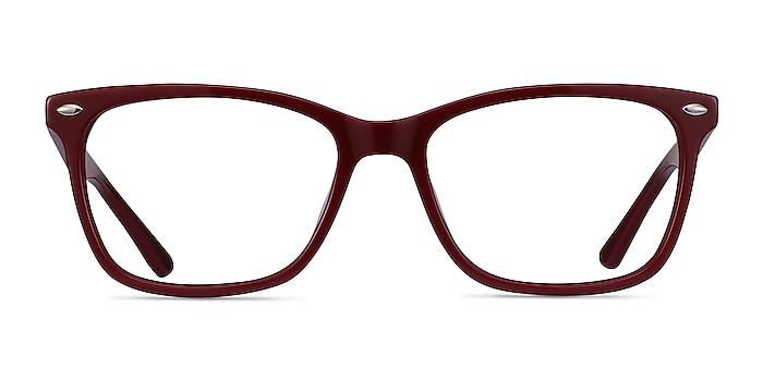 Varda Burgundy Acétate Montures de lunettes de vue d'EyeBuyDirect