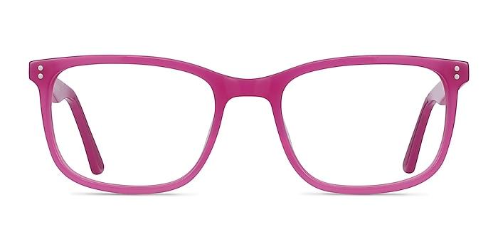 Lugano Fuchsia Pink Acetate Eyeglass Frames from EyeBuyDirect