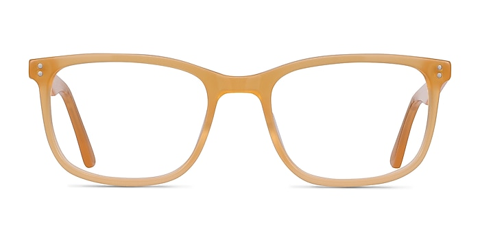 Lugano Light Orange Acetate Eyeglass Frames from EyeBuyDirect