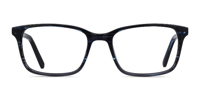 Clipperton Blue Striped Acetate Eyeglass Frames from EyeBuyDirect