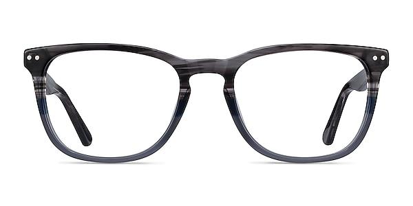 Gato Gray Striped Acetate Eyeglass Frames