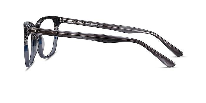 Gato Gray Striped Acetate Eyeglass Frames from EyeBuyDirect