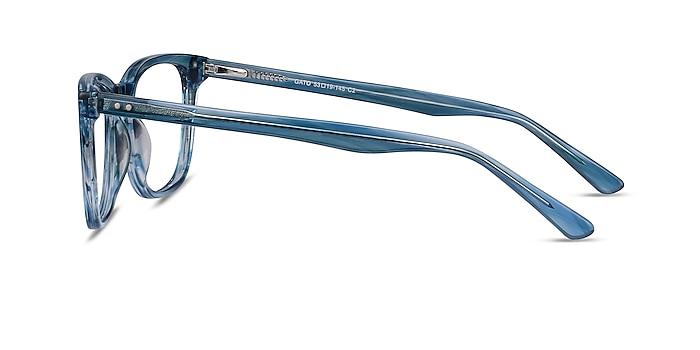 Gato Blue Striped Acetate Eyeglass Frames from EyeBuyDirect