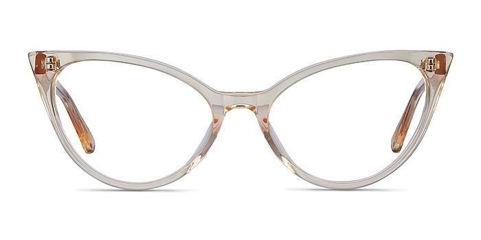 Quartet Clear Yellow Acétate Montures de lunettes de vue d'EyeBuyDirect