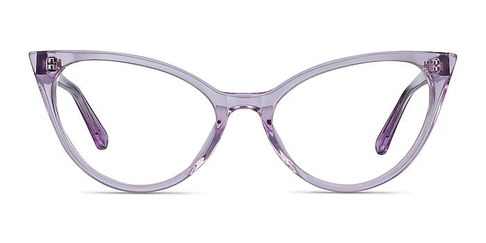 Quartet Clear Purple Acétate Montures de lunettes de vue d'EyeBuyDirect
