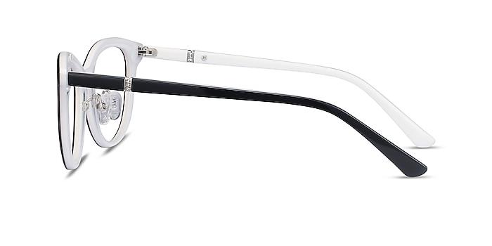 Helena Black White Acetate Eyeglass Frames from EyeBuyDirect