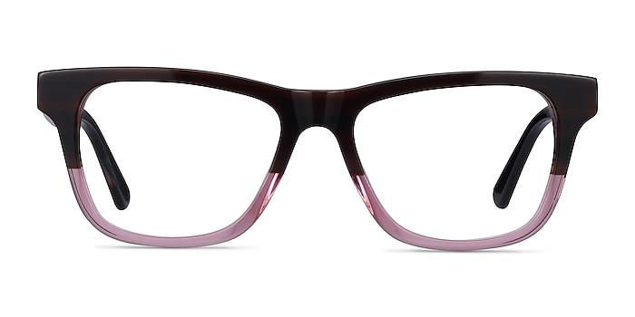 Feeling Brown Purple Acetate Eyeglass Frames from EyeBuyDirect