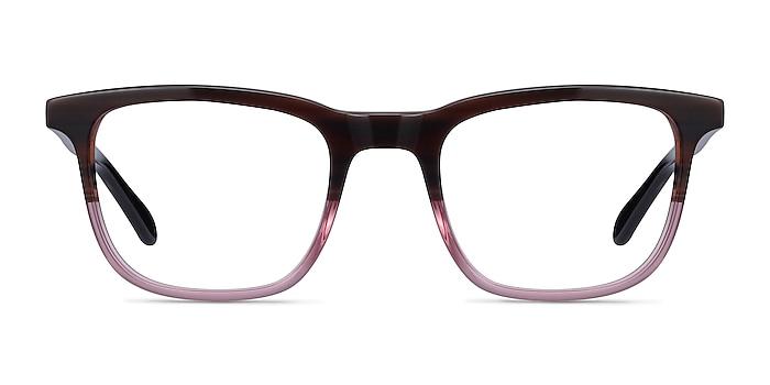 Ville Brown Purple Acetate Eyeglass Frames from EyeBuyDirect