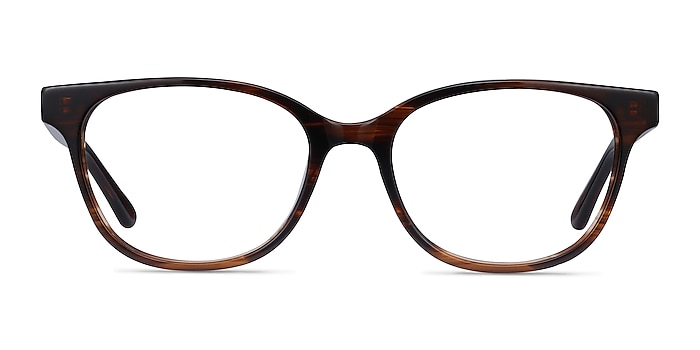 Patra Brown Striped Acetate Eyeglass Frames from EyeBuyDirect