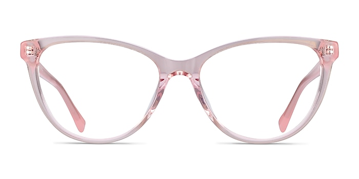 Sing Clear Pink Acetate Eyeglass Frames from EyeBuyDirect