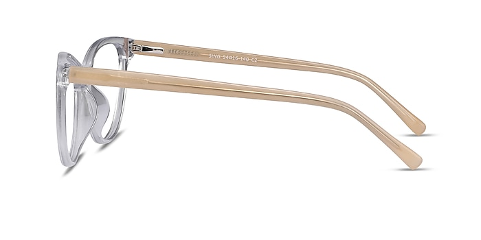 Sing Clear Yellow Acetate Eyeglass Frames from EyeBuyDirect