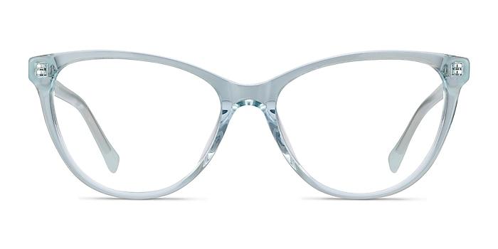 Sing Clear Blue Acetate Eyeglass Frames from EyeBuyDirect