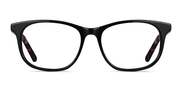 Steps Black Acetate Eyeglass Frames