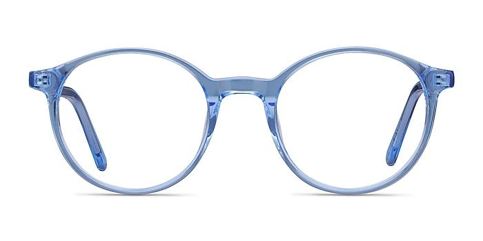 Excel Blue Acetate Eyeglass Frames from EyeBuyDirect