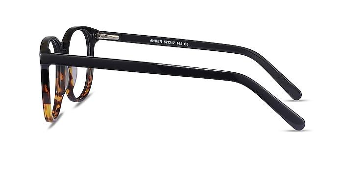 Ander Black Tortoise Acétate Montures de lunettes de vue d'EyeBuyDirect