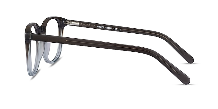 Ander Gray Clear Acetate Eyeglass Frames from EyeBuyDirect
