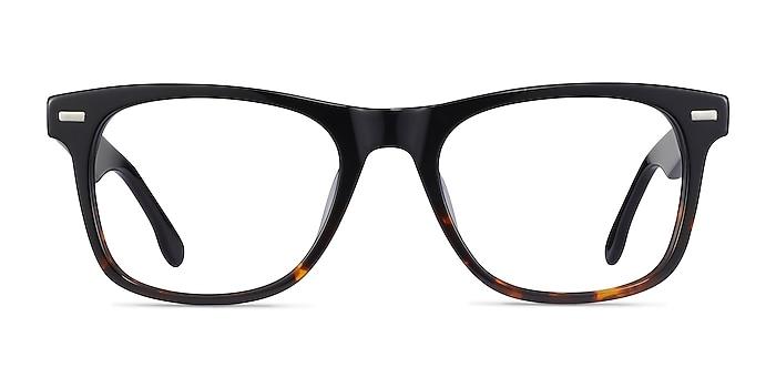 Caster Black Tortoise Acétate Montures de lunettes de vue d'EyeBuyDirect