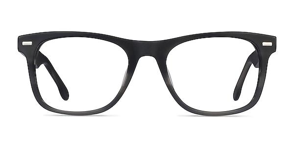 Caster Gray Striped Acetate Eyeglass Frames