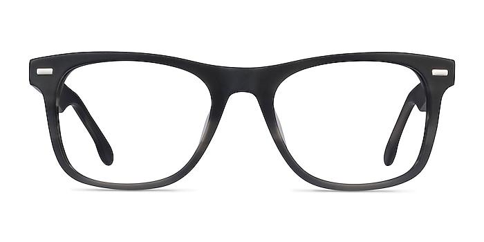Caster Gray Striped Acetate Eyeglass Frames from EyeBuyDirect