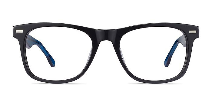 Caster Black Acetate Eyeglass Frames from EyeBuyDirect