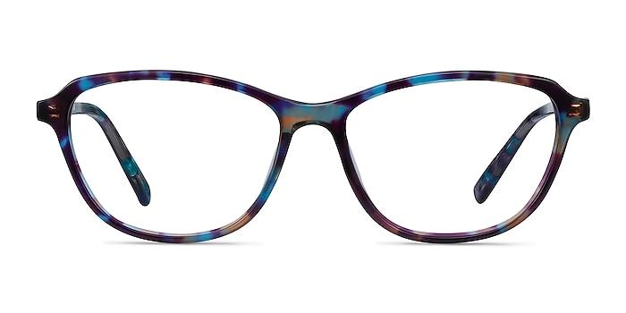 Ciencia Blue Floral Acétate Montures de lunettes de vue d'EyeBuyDirect