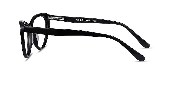 Yvonne Black Acetate Eyeglass Frames from EyeBuyDirect