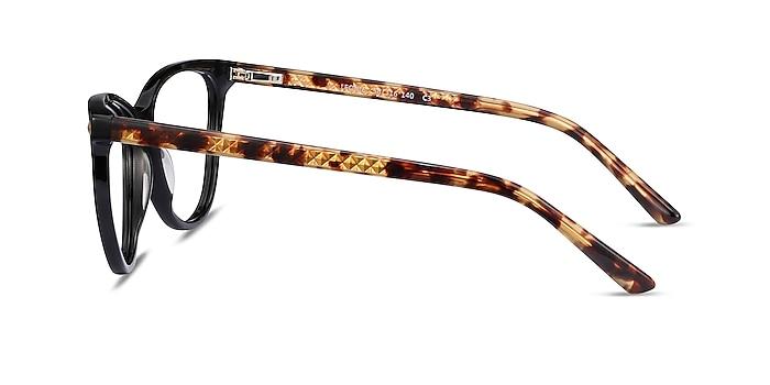 Leonie Black Tortoise Acétate Montures de lunettes de vue d'EyeBuyDirect