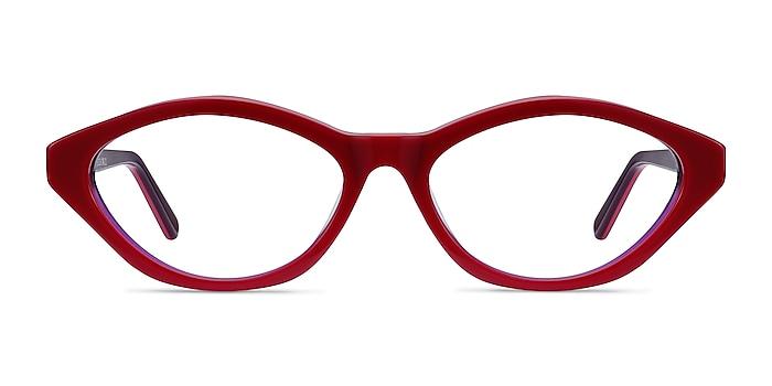 Passion Raspberry & Purple Acétate Montures de lunettes de vue d'EyeBuyDirect