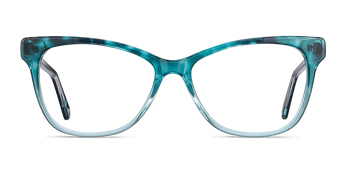 Rosalie Blue Acetate Eyeglass Frames from EyeBuyDirect