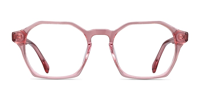 Orchid Clear Pink Acetate Eyeglass Frames from EyeBuyDirect