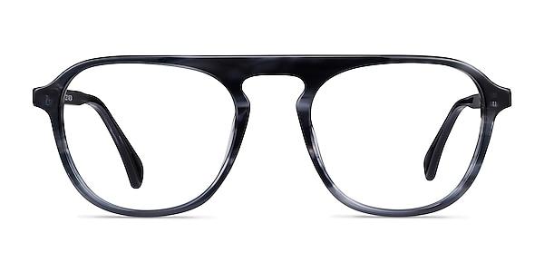 Ida Gray Striped Acetate Eyeglass Frames