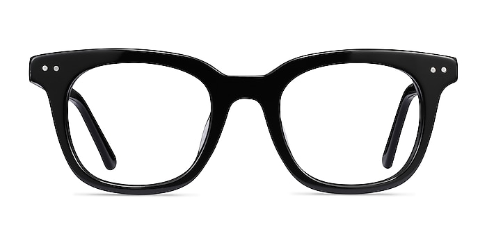 Romy Black Acetate Eyeglass Frames from EyeBuyDirect